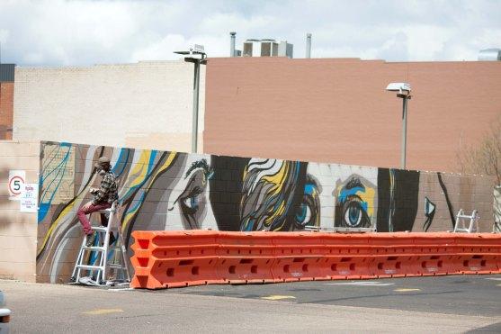 BOOMDubbo Poncho Army street art