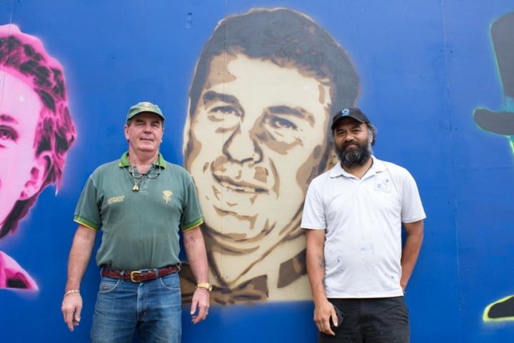 BOOMDubbo street art Brian Tink and Regan Tamanui